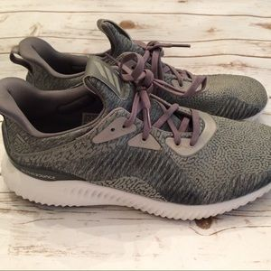 Used Men's Adidas Alpha Bounce Gray Sneakers